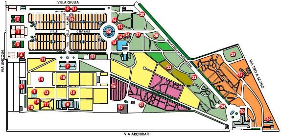 Mappa Orto Botanico di Palermo